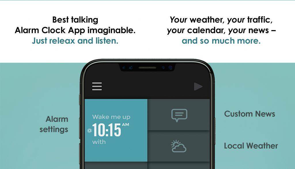 Jetzt im Appstore: TalkClok Die sprechende Alarm Clock App