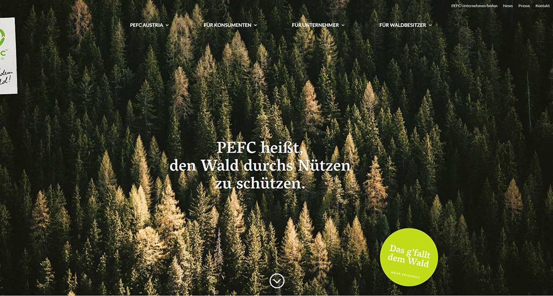 Neuer Webauftritt PEFC Austria