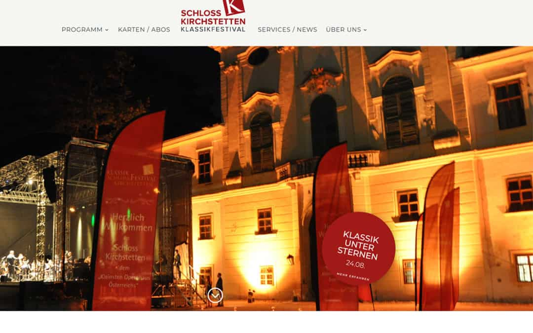 Relaunch Website Schloss Kirchstetten