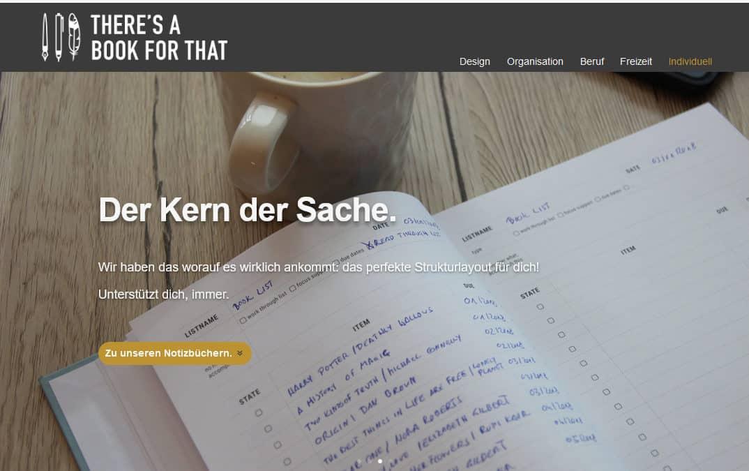 NEU! ONLINE-Shop in Deutsch für unsere beliebten Notizbücher