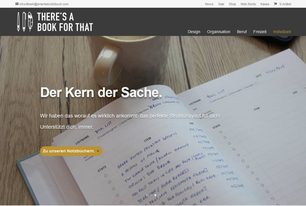 smartes-notizbuch-theres-a-book-for-that-iservice-werbeagentur-wien-screenshot-webshop