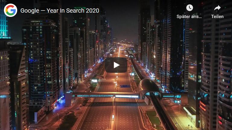 GOOGLE Jahresrückblick Danach hat die Welt 2020 gesucht!