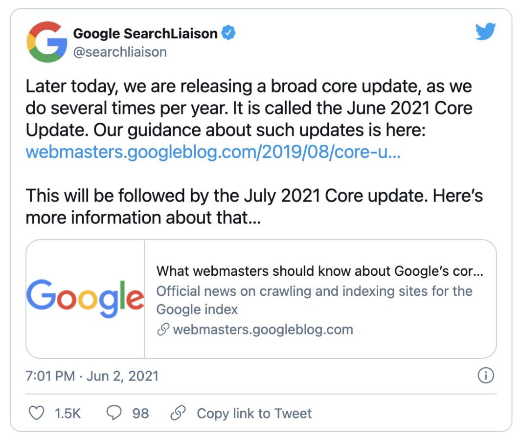 google-core-update-juni-2021-screenshot-twitter-feed-iservice-medien-und-werbeagentur