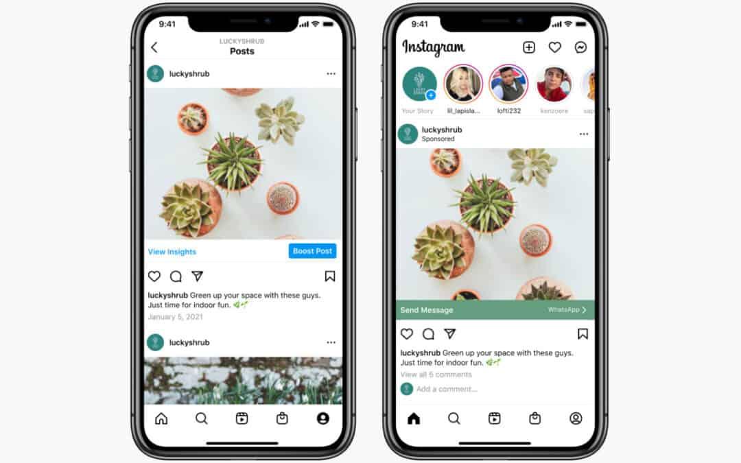 Instagram führt Click-to-WhatsApp-Nachrichtenanzeigen ein